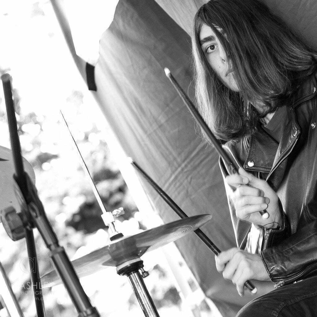 Ashley Photography, B&W, drummer, event Photographer