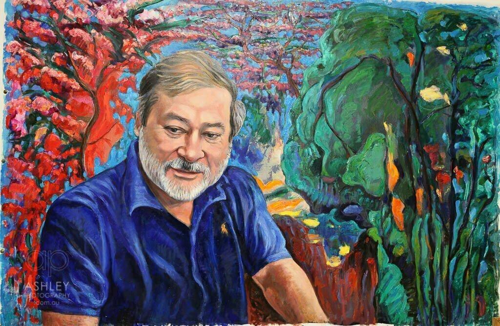 Alex Nemirovsky paints Malaysian Sultan of Johor