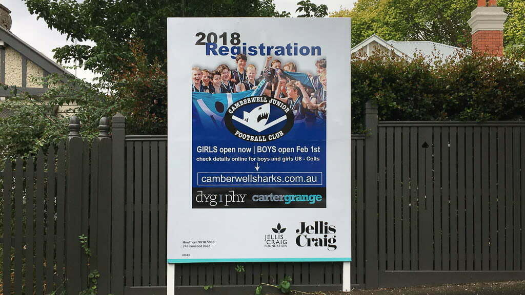 Camberwell Sharks Billboards are Up