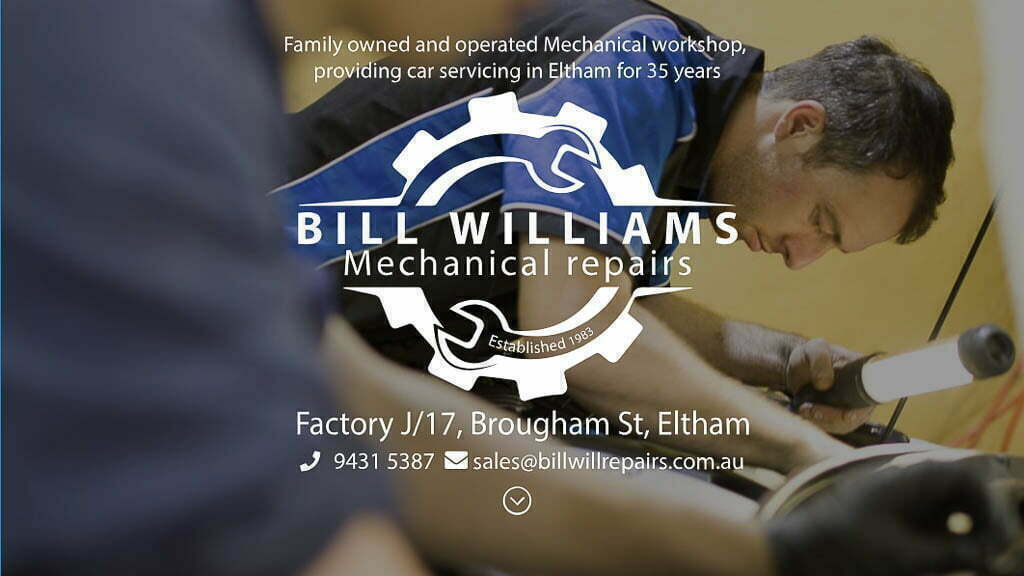 Logo, Branding, Photography, Website.  Introducing Bill Williams Mechanical Repairs